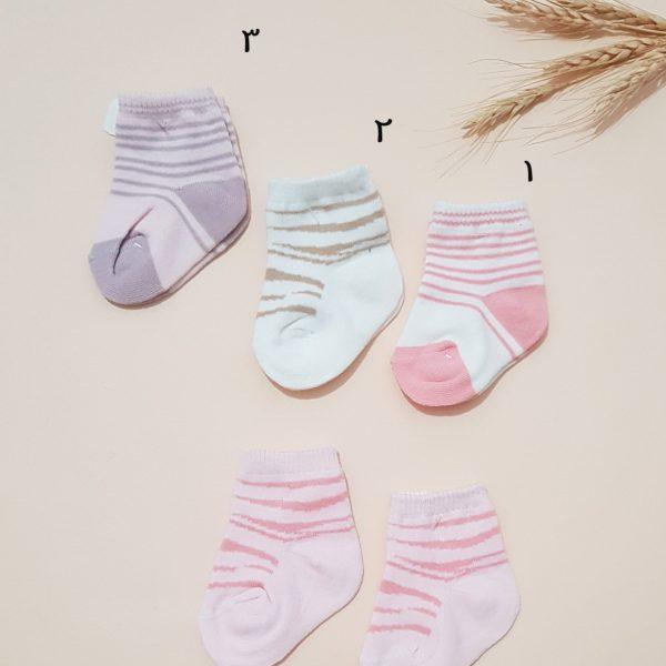 جوراب نوزادی دخترانه