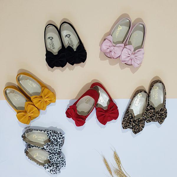 کفش دخترانه پاپیونی جیر