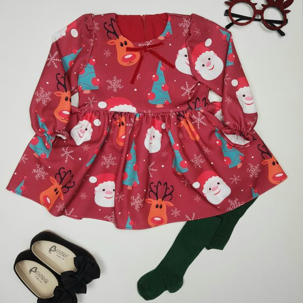 پیراهن بابانوئل کریسمسی(طرح1)