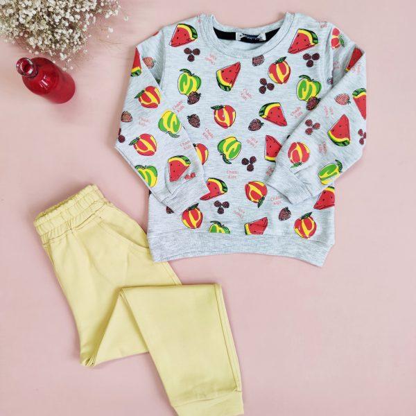 ست بلوز شلوار میوه ای اسپرت(تک رنگ)