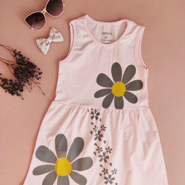 پیراهن حلقه ای طرح گل
