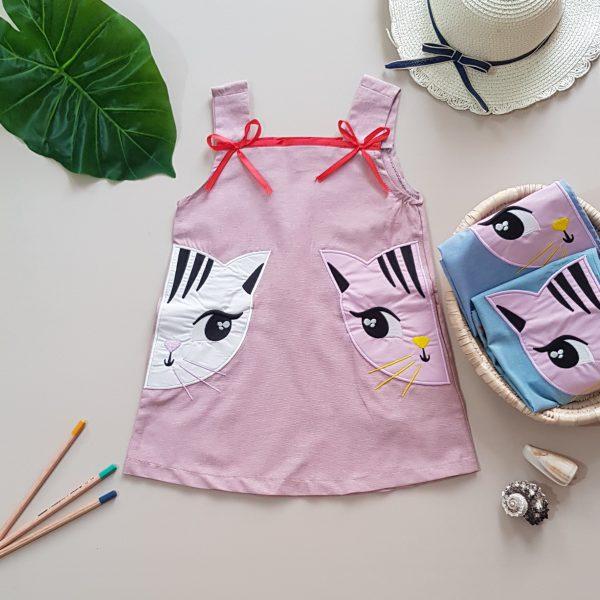 پیراهن گربه دخترانه