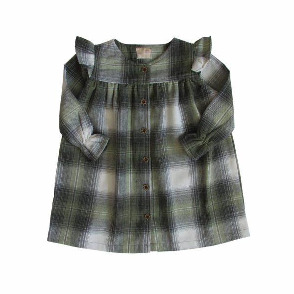 پیراهن چهارخانه(پشمی)